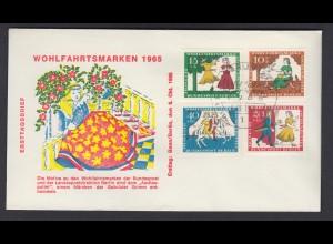 Berlin FDC mit 266-269 Wohlfahrt Märchen der Brüder Grimm ESST 6.10.1965