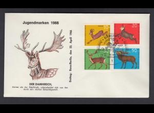 Berlin FDC mit 291-294 Jugend Hochwild ESST 22.4.1966
