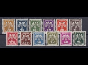 Böhmen + Mähren Dienstmarken D 13 - D 24 kompletter Satz postfrisch