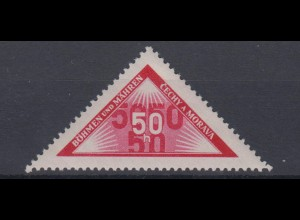 Böhmen + Mähren Portomarken für Zustellungen 15 50 H postfrisch