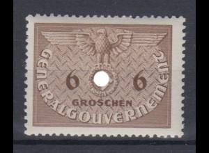 Generalgouvernement 1 Dienstmarken 6 Gr postfrisch