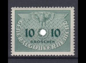 Generalgouvernement 3 Dienstmarken 10 Gr postfrisch