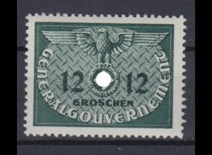 Generalgouvernement 4 Dienstmarken 12 Gr postfrisch