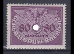 Generalgouvernement 12 Dienstmarken 80 Gr postfrisch
