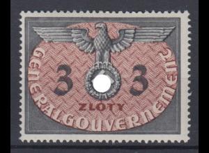 Generalgouvernement 14 Dienstmarken 3 Zloty postfrisch
