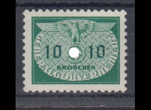Generalgouvernement 18 Dienstmarken 10 Gr postfrisch