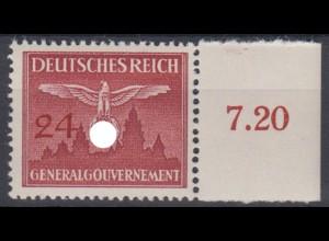 Generalgouvernement 31 Dienstmarke mit Seitenrand 24 Gr postfrisch /2