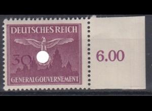 Generalgouvernement 32 Dienstmarke mit Seitenrand 30 Gr postfrisch /1