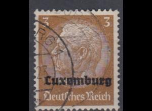 Luxemburg 1 Hindenburg mit waagerechtem Aufdruck 3 Pf gestempelt /2