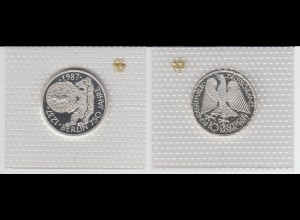 "Silbermünze 10 DM 1987 750 Jahre Berlin polierte Platte ""J"" (1)"