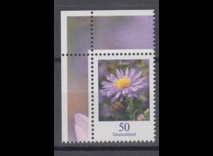 Bund 2463 Eckrand links oben Blumen Herbstaster 50 Cent postfrisch