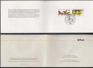 Bund 1255-1256 Ministerkarte Mophila 1985 Hamburg mit ESST Bonn