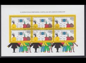 Bund Block 21 Briefmarkenausstellung der Jugend Düsseldorf ESST Bonn