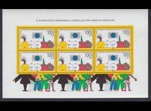 Bund Block 21 Briefmarkenausstellung der Jugend Düsseldorf postfrisch