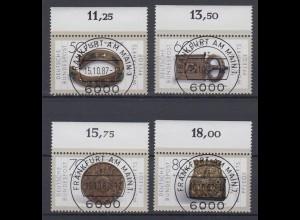 Bund 1333-1336 mit Oberrand Gold und Silberschmiedekunst kompl. Satz ESST