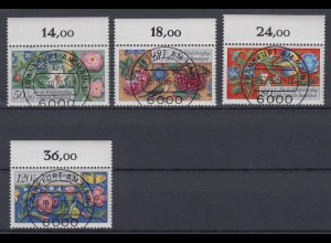 Bund 1259-1262 mit Oberrand Wohlfahrt Miniaturen kompl. Satz ESST Frankfurt