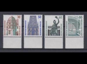 Bund 1339-1342 mit Unterrand SWK 30 Pf, 50 Pf, 60 Pf, 80 Pf postfrisch
