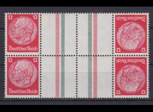 Dt. Reich 2x ZD KZ 23.1 Hindenburg Mi.Nr. 519/519 12 Pf postfrisch