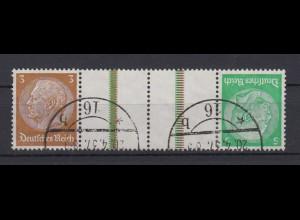 Dt. Reich Zusammendruck K 25 Hindenburg Mi.Nr. 513/515 3 Pf + 5 Pf gestempelt