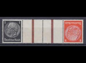 Dt. Reich Zusammendruck KZ 24 Hindenburg Mi.Nr. 512/517 1 Pf + 8 Pf postfrisch