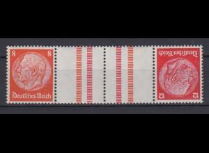 Dt. Reich Zusammendruck KZ 33 Hindenburg Mi.Nr. 517/519 8 Pf, 12 Pf postfrisch
