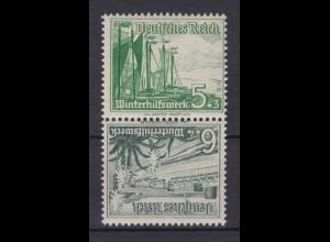 Dt. Reich ZD SK 32 Winterhilfswerk: Schiffe Mi.Nr. 653/654 5 Pf + 6 Pf **