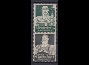 Deutsches Reich ZD S 221 Berufsstände Mi.Nr. 559/557 6+ 4 Pf + 4+ 2 Pf **