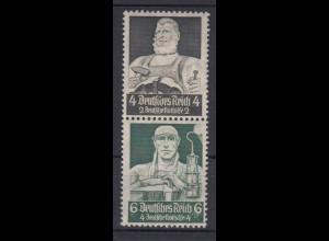 Deutsches Reich ZD S 219 Berufsstände Mi.Nr. 557/559 4+ 2 Pf + 6+ 4 Pf **