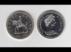 Silbermünze Kanada 1 Dollar 1973 Monty stempelglanz