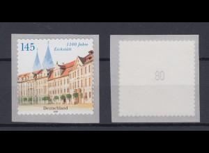 Bund 2643 SELBSTKLEBEND Rollenmarke mit gerader Nr. 1100 Jahre Eichstätt 145 C**