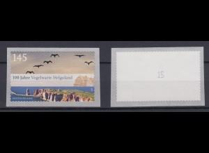 Bund 2793 SELBSTKLEBEND aus Rolle mit ungerader Nr. Vogelwarte Helgoland 145C **