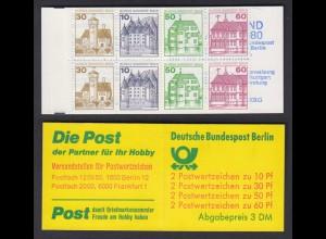 Berlin Markenheftchen 12a Burgen und Schlösser 1980 postfrisch