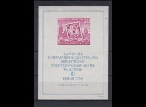 DDR Block 10 1. Zentrale Briefmarkenausst. Philatelie Berlin 1954 postfrisch