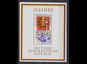 DDR Block 28 20 Jahre DDR 1 M postfrisch