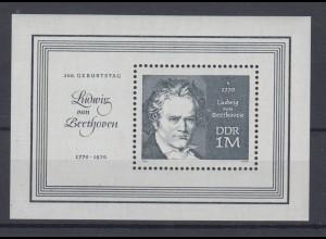 DDR Block 33 200. Geburtstag Ludwig van Beethoven 1 M postfrisch