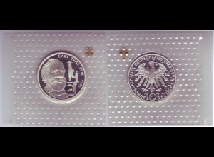 "Silbermünze 10 DM 1988 Carl Zeiss polierte Platte ""F"" (4)"