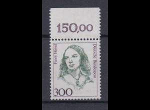 Bund 1433 mit Oberrand Frauen 300 Pf postfrisch