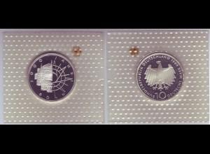 """Silbermünze 10 DM 1989 2000 Jahre Bonn """"D"""" polierte Platte (6)"""