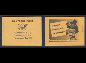 DDR Markenheftchen 3 b 1 Fünfjahresplan 1961 postfrisch