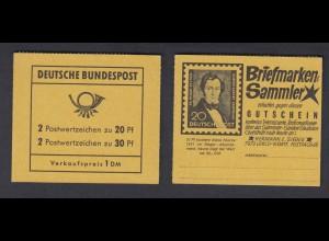 Bund Markenheftchen 14 a Brandenburger Tor postfrisch