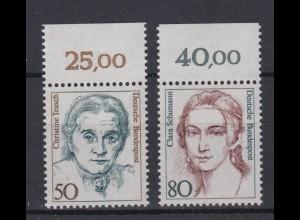 Bund 1304-1305 mit Oberrand Frauen der deutschen Geschichte (I) kompl. Satz **