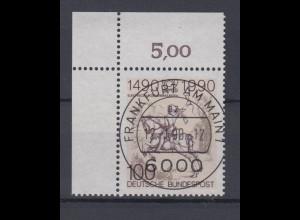 Bund 1445 Eckrand links oben 500 Jahre Postverbindung in Europa 100 Pf ESST