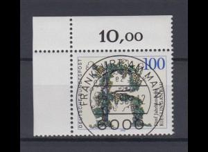 Bund 1446 Eckrand links oben 500 Jahre Rieslinganbau 100 Pf mit ESST Frankfurt