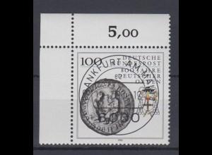 Bund 1451 Eckrand links oben 800 Jahre Deutscher Orden 100 Pf mit ESST Frankfurt