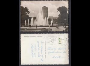 Ansichtskarte Mannheim Friedrichsplatz Wasserspiele