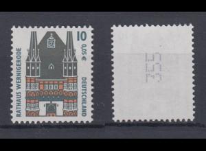 Bund 2139 RM mit ungerader Nummer SWK mit Punkt 10 Pf/0,05 C postfrisch