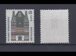 Bund 2139 Rollenmarke mit Punkt mit gerader Nummer SWK (XXIII) 10 Pf/0,05 C **