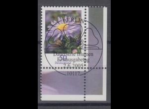 Bund 2463 Eckrand rechts unten Blumen Herbstaster 50 C mit ESST Berlin