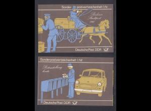DDR SMHD 14 Postzustellung mit 10x Mi.Nr. 2869 postfrisch mit Aufdruckfehler
