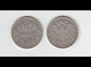 Silbermünze Kaiserreich 1 Mark 1903 A Jäger Nr. 17 /20